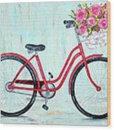 Bicycle Spring Break Wood Print
