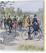 Bicycle Tourists, 1896 Wood Print by Granger