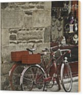 Bicycles  Dinan  France Wood Print