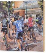 Bicycles On Broadway Wood Print