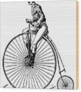 Bicycling, C1890 Wood Print by Granger