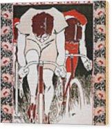 Bicycling Poster, 1896 Wood Print