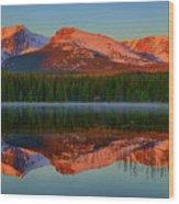 Bierstadt Alpenglow Wood Print
