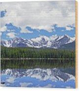 Bierstadt Lake Panorama Wood Print