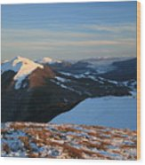 Bieszczady Mountains Poland Wood Print