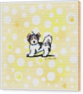 Biewer Terrier Banana Cream Wood Print