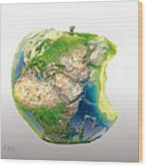 Big Apple Wood Print