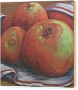 Big Apples Wood Print
