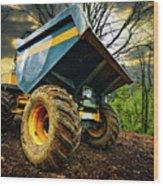 Big Bad Dumper Truck Wood Print by Meirion Matthias