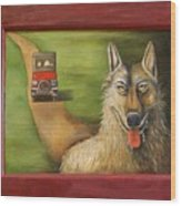 Big Bad Wolf Wood Print