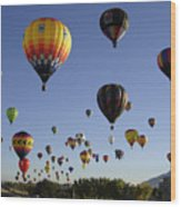 Big Balloons Wood Print