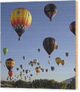 Big Balloons Wood Print