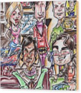 Big Bang Theory Wood Print by Big Mike Roate