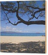 Big Beach Wood Print