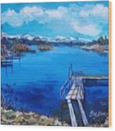 Big Bear Lake 1 Wood Print