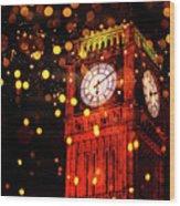 Big Ben Aglow Wood Print