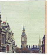 Big Ben As Seen From Trafalgar Square, London Wood Print by Image - Natasha Maiolo