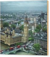 Big Ben From The London Eye Wood Print