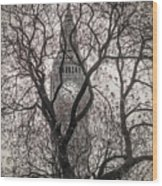 Big Ben From The Square Wood Print