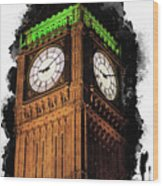 Big Ben In London Wood Print