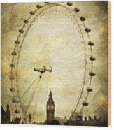 Big Ben In The London Eye Wood Print