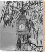 Bw Big Ben London Wood Print