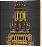 Big Ben Striking Midnight Wood Print