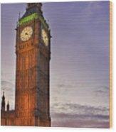 Big Ben Twilight In London Wood Print