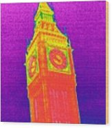 Big Ben, Uk, Thermogram Wood Print by Tony Mcconnell
