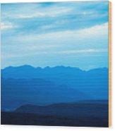 Big Bend Blue Haze Wood Print