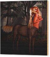 Big Blonde Centaur Wood Print