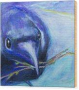 Big Blue Bird Wood Print