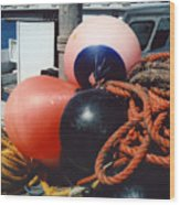 Big Buoys Wood Print