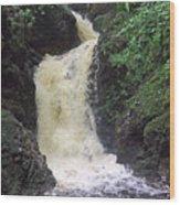 Big Burn Waterfall Wood Print
