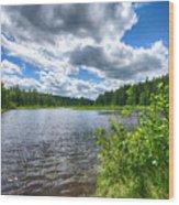 Big Clouds Blue Sky Wood Print