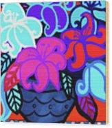 Big Colorful Lillies 2 Wood Print