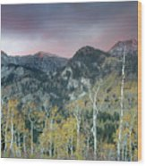 Big Cottonwood Canyon Sunrise Wood Print