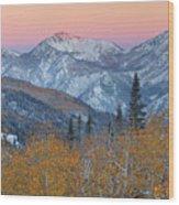 Big Cottonwood Canyon Wasatch Sunrise Wood Print