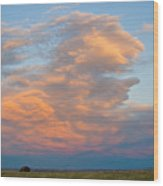 Big Country Sunset Sky Wood Print