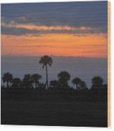 Big Cypress Sunset Wood Print