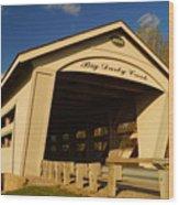 Big Darby Creek Covered Bridge Wood Print
