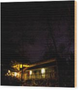 Big Dipper Over Hike Inn Wood Print