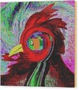 Big Fat Red Hen Wood Print