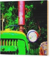 Big Green Tractor 2 Wood Print