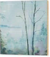 Big Hill Morning Wood Print