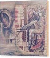 Big Horn Dancer Wood Print