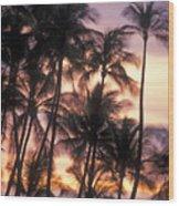 Big Island Palms Wood Print