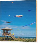 Big Kites Delray Beach Wood Print