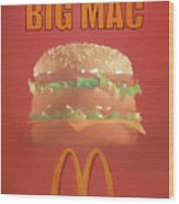 Big Mac Poster Wood Print