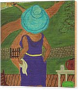 Big Mama On The Porch Wood Print